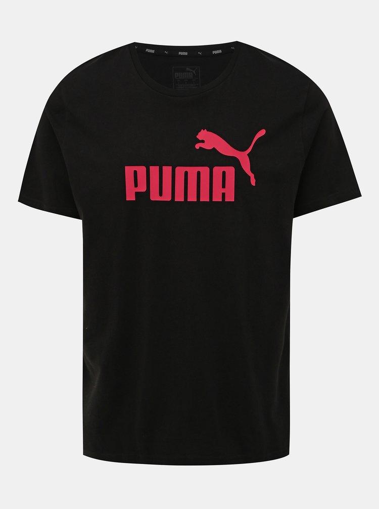Černé pánské tričko s krátkým rukávem Puma