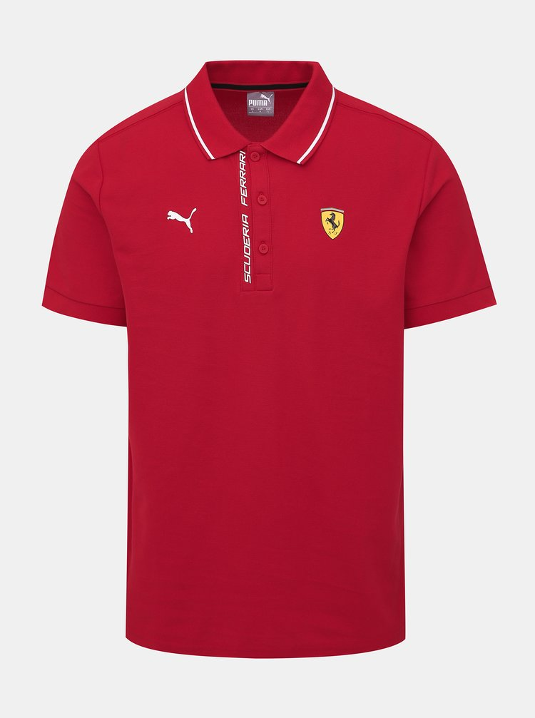 Červené pánské polo tričko Puma SF
