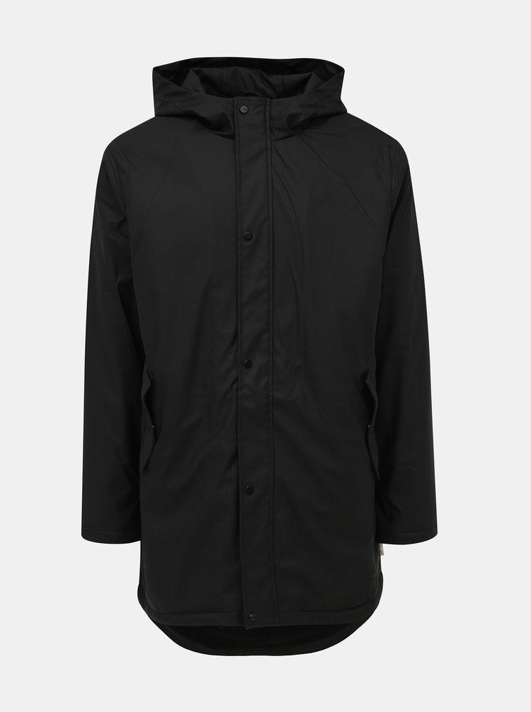 Černá voděodolná bunda s vnitřním umělým kožíškem ONLY & SONS Riel