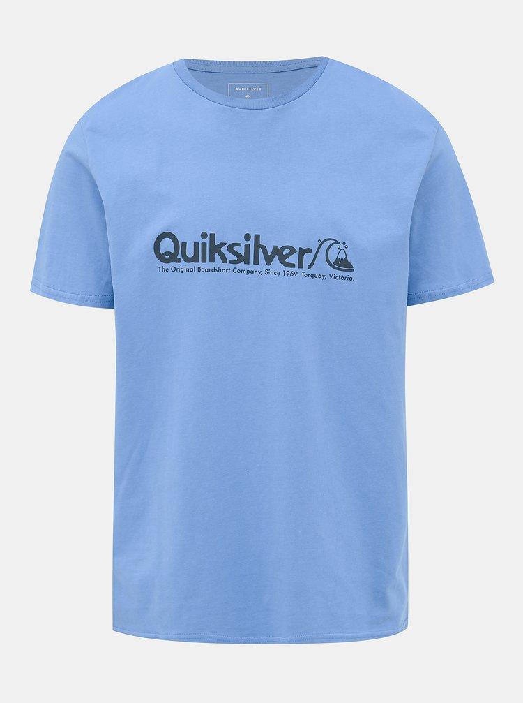 Modré tričko s potlačou Quiksilver Legends