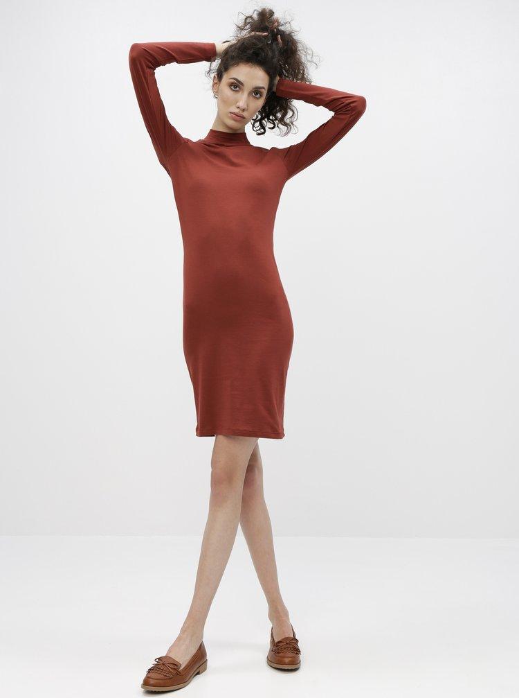 Hnědé basic šaty Jacqueline de Yong Yava
