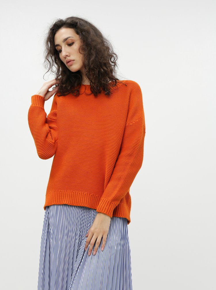 Oranžový sveter Selected Femme Walla