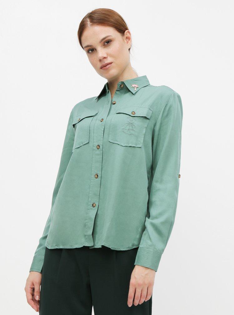 Zelená košile Femi Stories Sepia