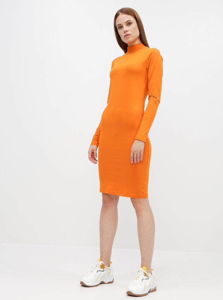 Oranžové basic šaty Jacqueline de Yong Yava