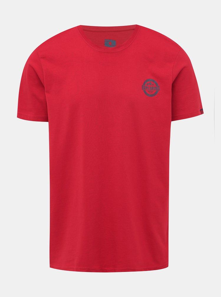 Červené pánské tričko s potiskem LOAP Beret