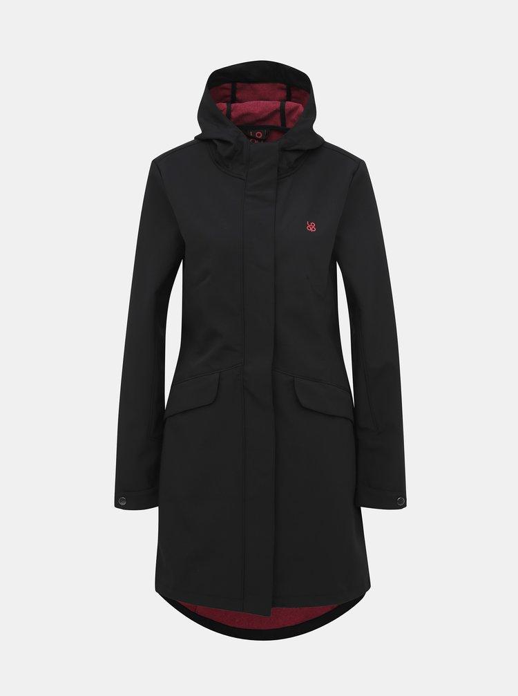 Černý dámský softshellový nepromokavý kabát LOAP Lyena