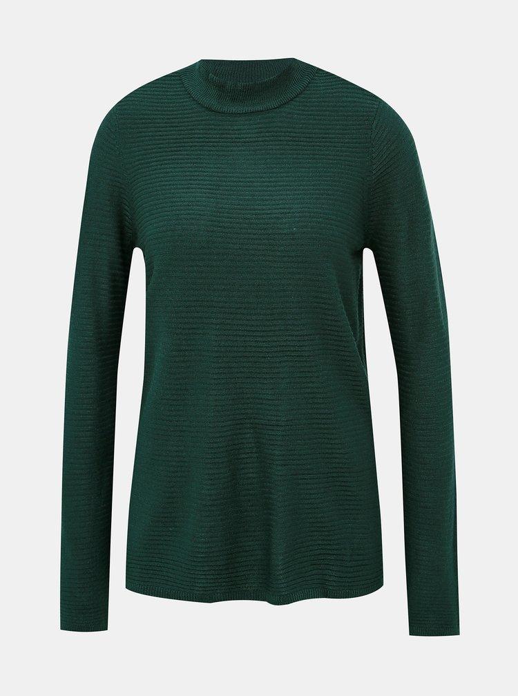 Tmavě zelený svetr se stojáčkem VERO MODA Bobbie