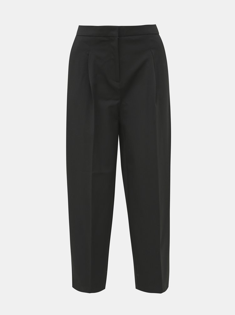Čierne skrátené nohavice Selected Femme Hia