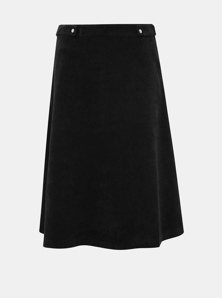 Čierna menčestrová sukňa VERO MODA Ayoe