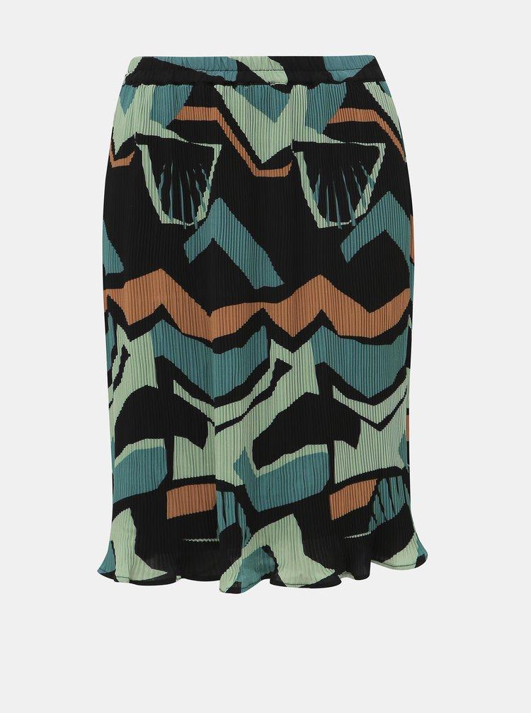 Modrá plisovaná sukňa VERO MODA Afina