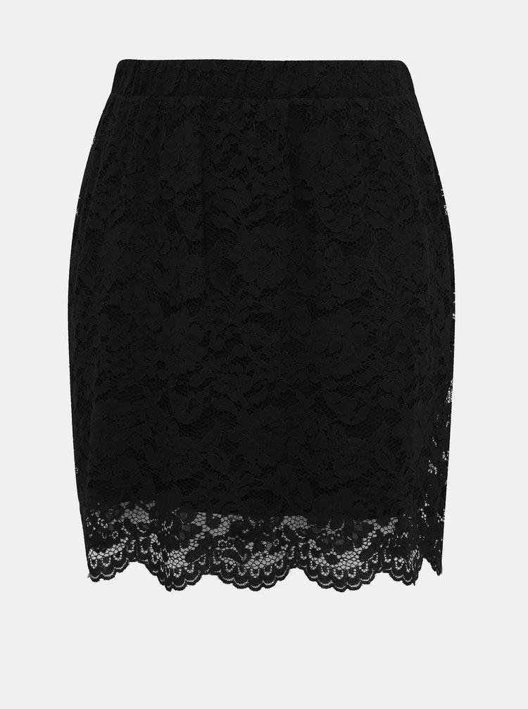Černá krajková sukně Zizzi Nellie