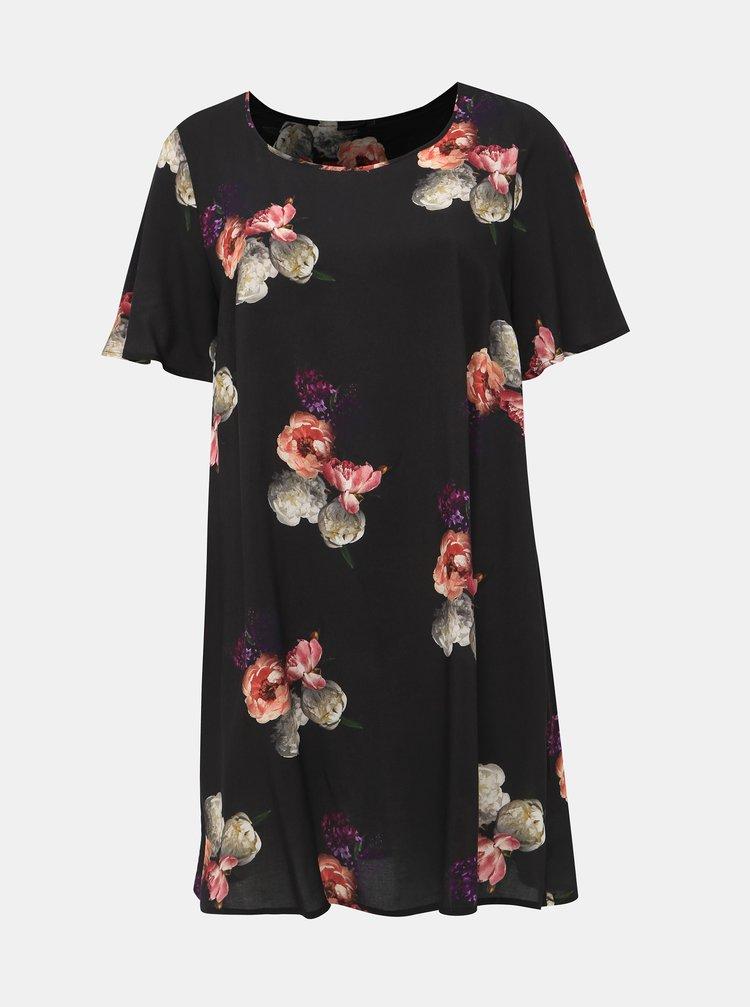 Černé květované šaty Zizzi Peone