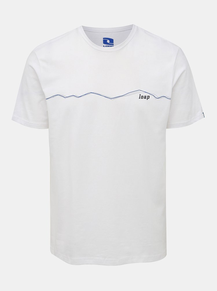 Bílé pánské tričko LOAP Alesy