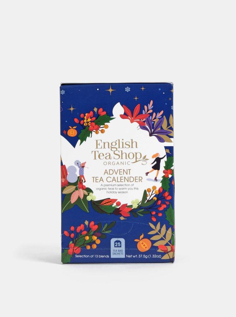 Bio černý, zelený, bylinkový a bílý čaj se 13 příchutěmi English Tea Shop Adventní kalendář