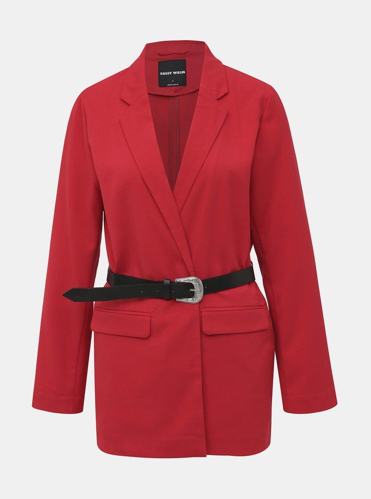 Červené sako s opaskom TALLY WEiJL