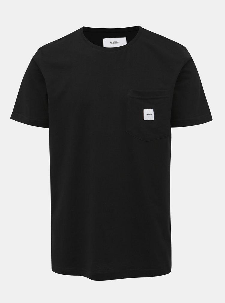 Černé pánské tričko s kapsou Makia Square Pocket