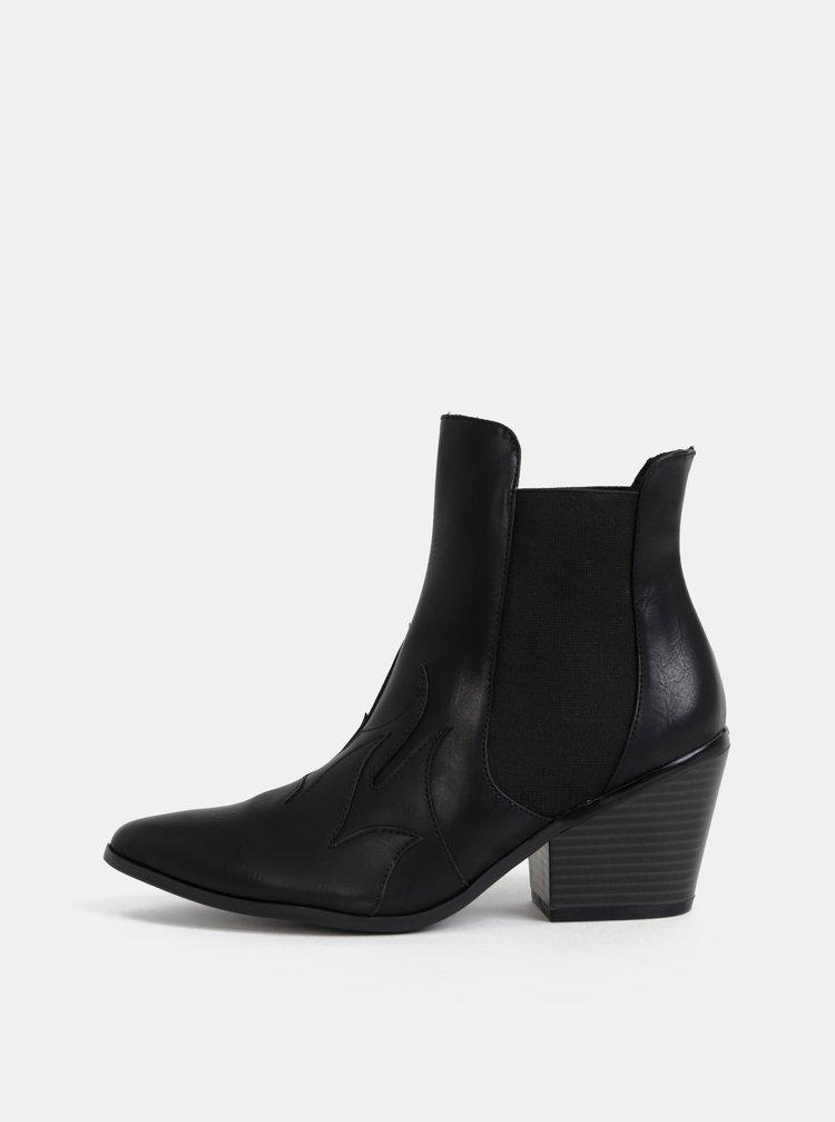 Černé kotníkové boty VERO MODA Jess