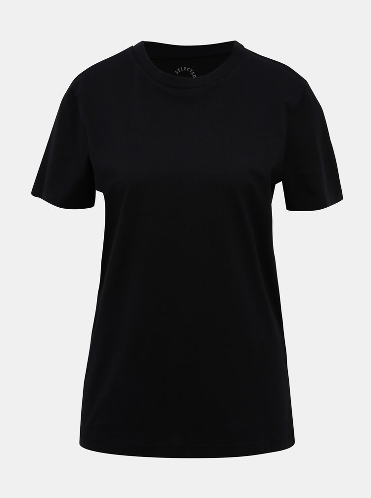 Čierne basic tričko Selected Femme My Perfect