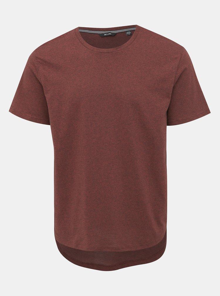 Vínové basic tričko ONLY & SONS Martin