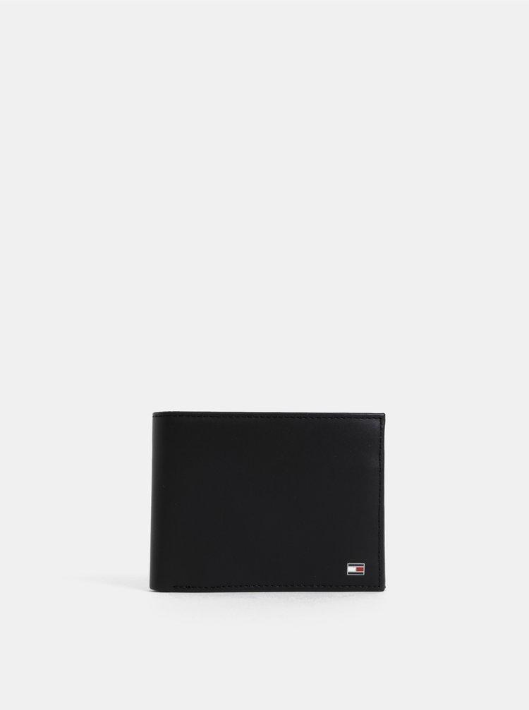 Černá pánská kožená peněženka Tommy Hilfiger