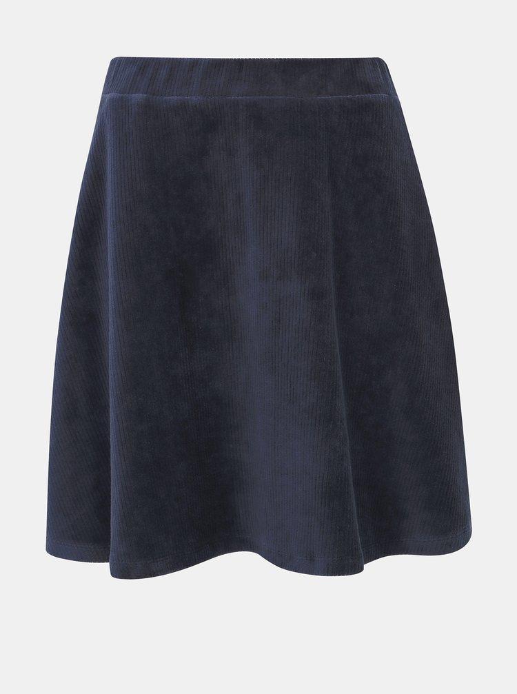Tmavomodrá menčestrová sukňa VILA