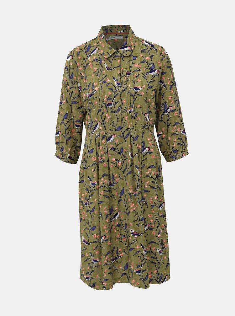 Zelené vzorované šaty Brakeburn