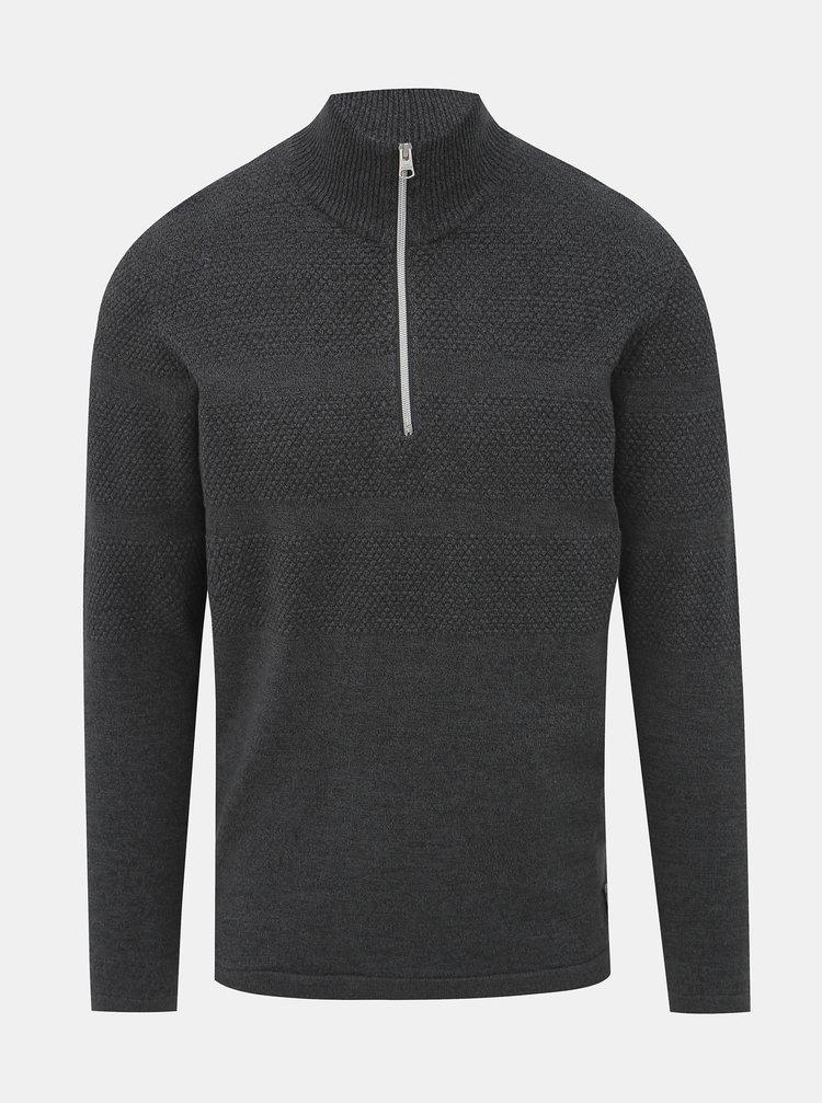 Tmavě šedý svetr Shine Original