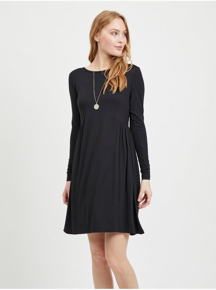 Černé volné šaty VILA Sunsita