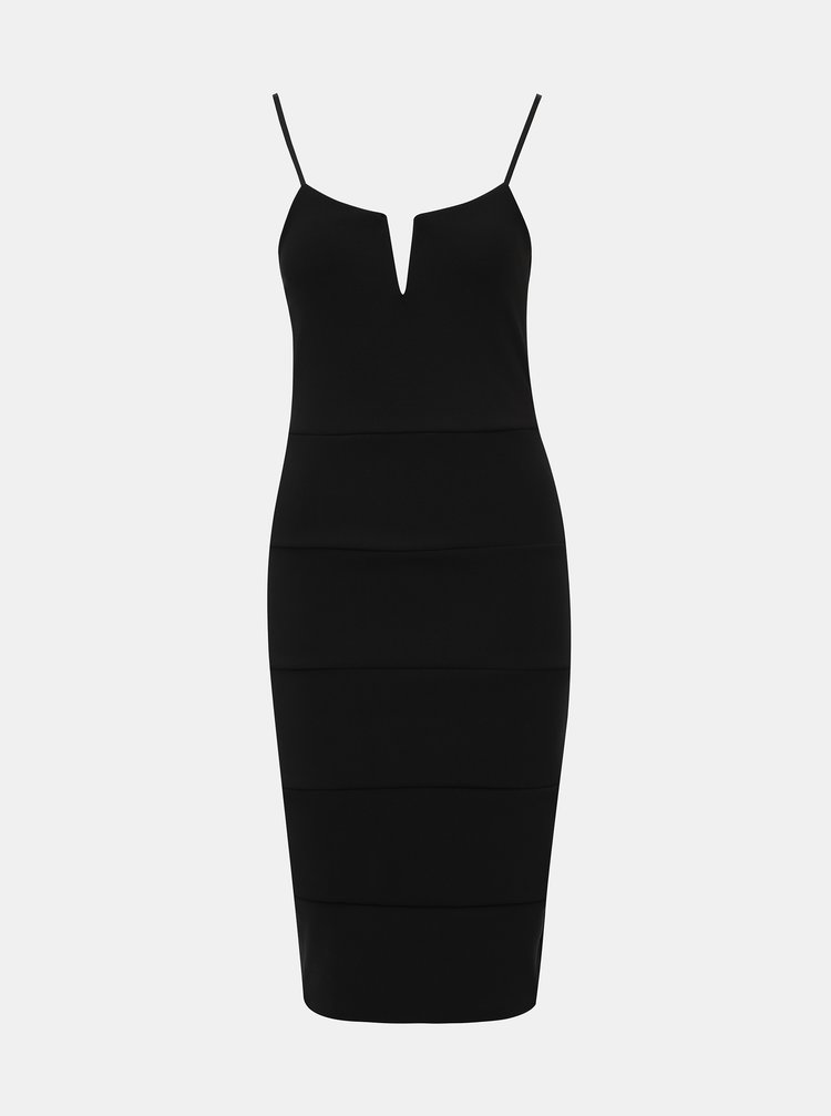 Čierne púzdrové šaty na ramienka Haily´s Lorie