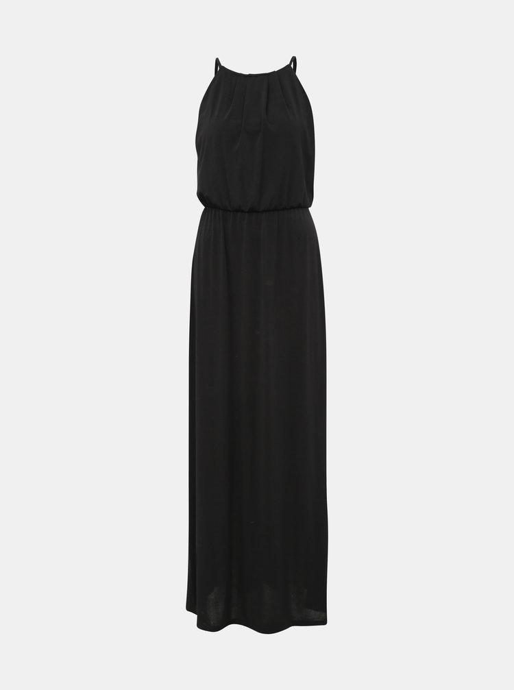 Čierne maxi šaty s krajkou Haily´s Malia