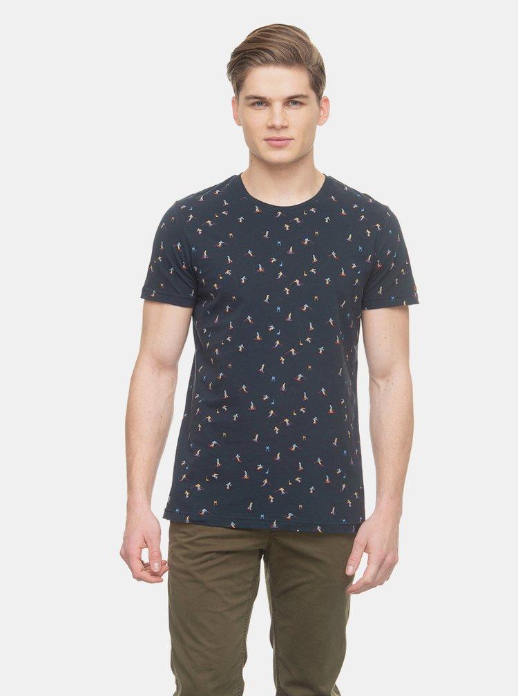 Tmavě modré pánské vzorované tričko Ragwear Olfie