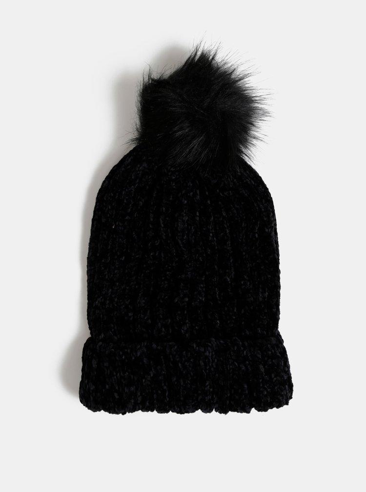 Černá dámská čepice s bambulí Haily´s Sandra