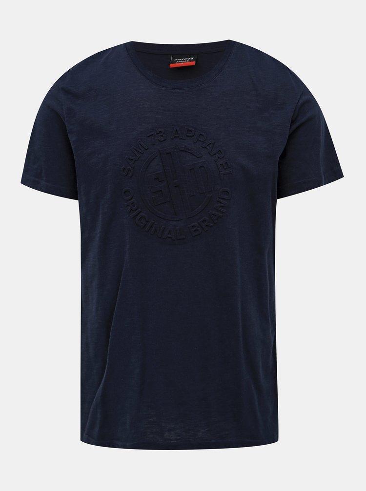 Tmavě modré pánské tričko SAM 73