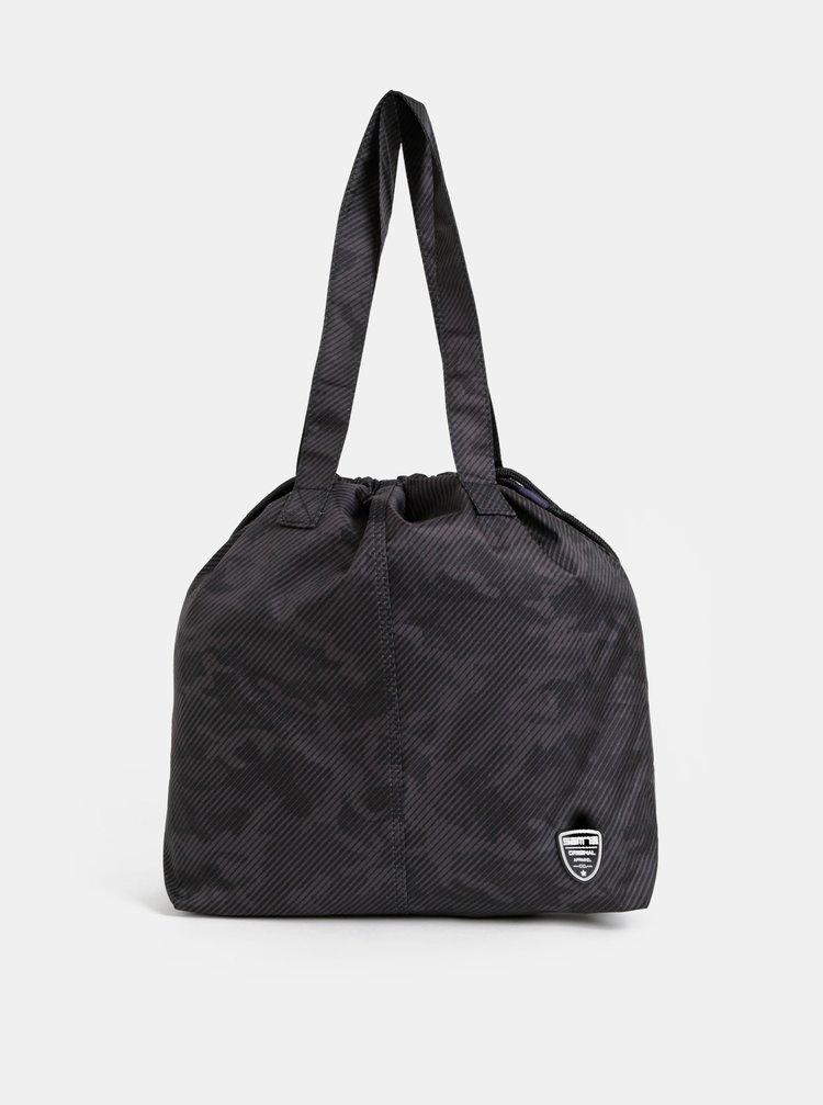 Tmavě šedá vzorovaná dámská taška SAM 73
