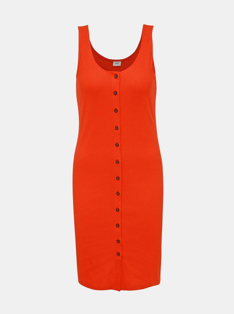 Oranžové rebrované šaty Jacqueline de Yong Nevada