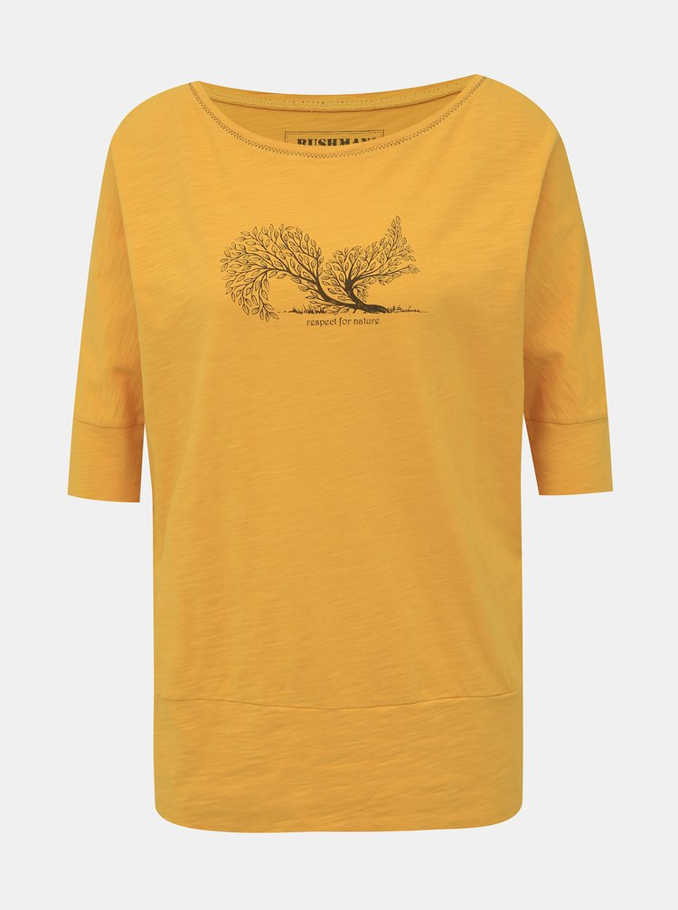 Žlté dámske tričko BUSHMAN Floridana