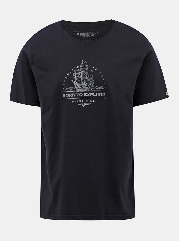 Tmavomodré pánske tričko BUSHMAN Newcomb