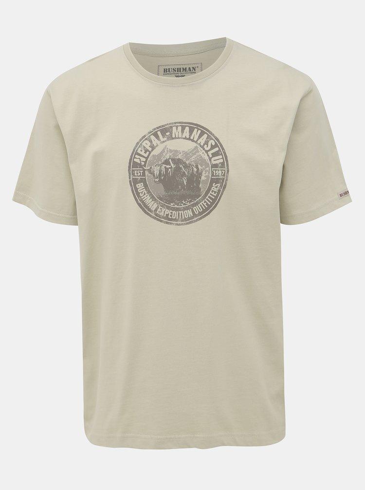 Svetlozelené pánske tričko BUSHMAN Hanover
