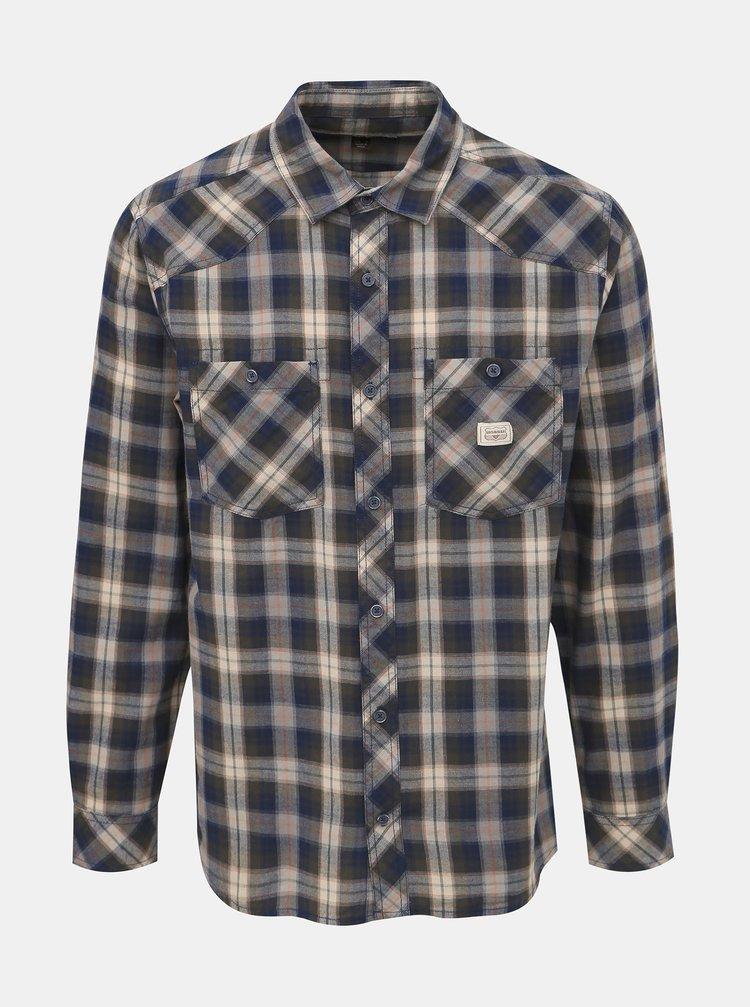 Modrá pánská kostkovaná košile BUSHMAN Alburg