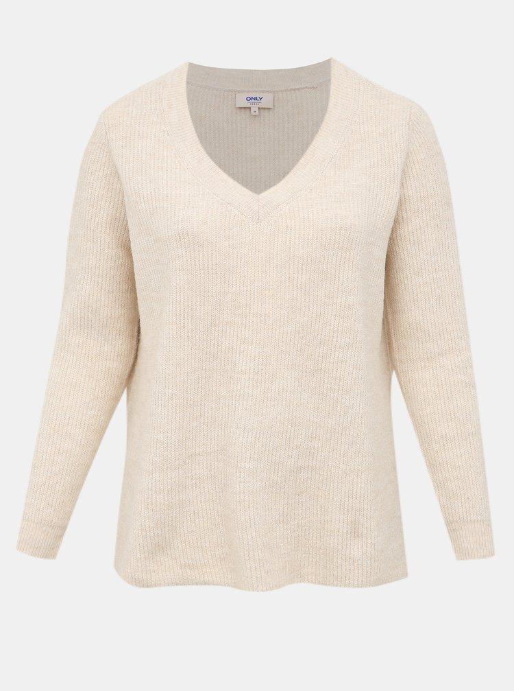 Béžový svetr ONLY CARMAKOMA Shennie