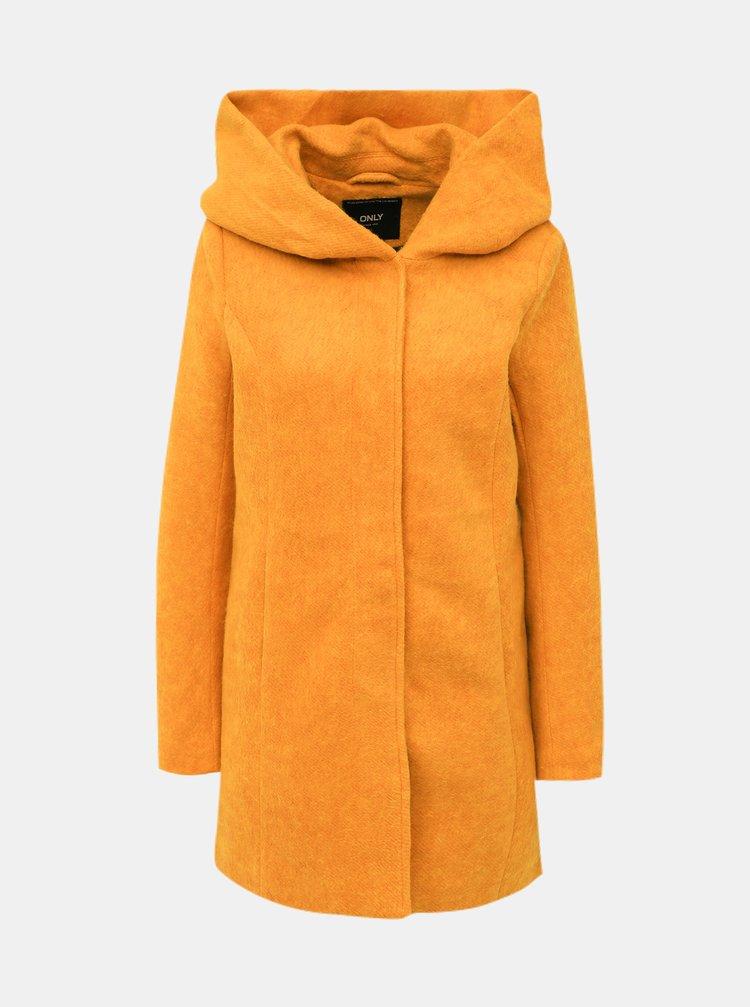Hořčicový kabát ONLY Sedona