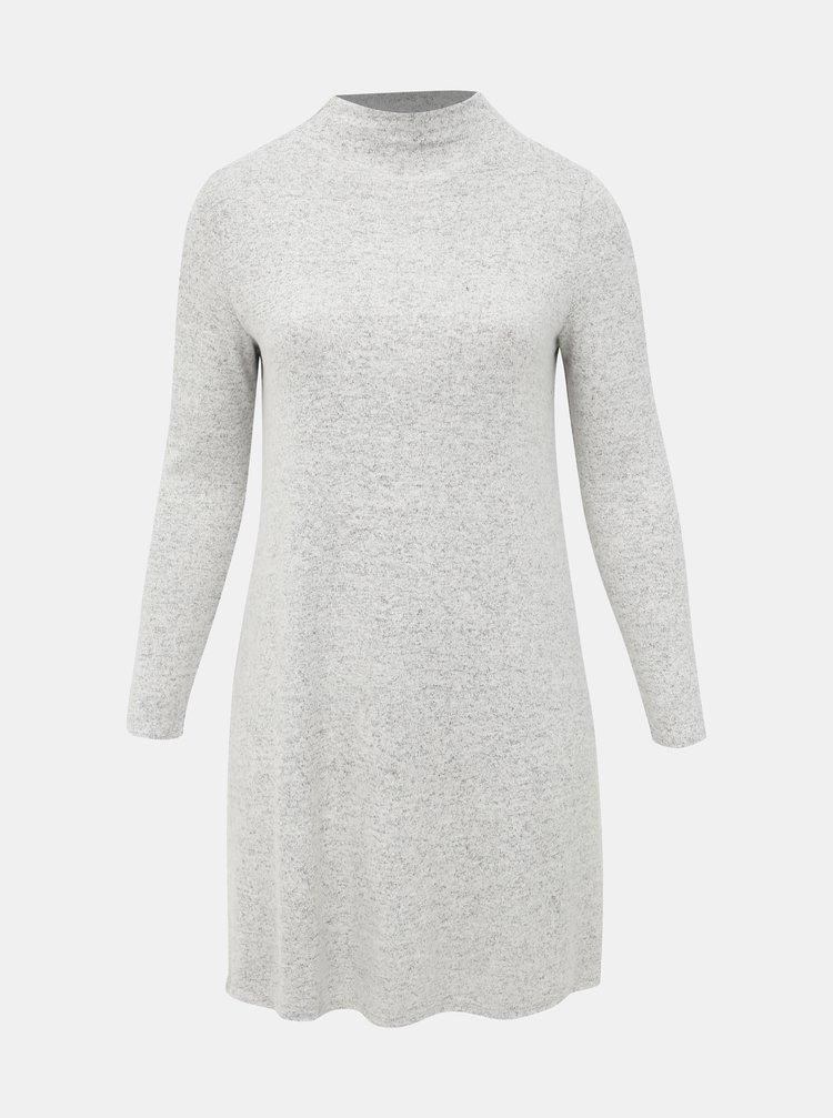 Svetlošedé svetrové šaty ONLY CARMAKOMA India