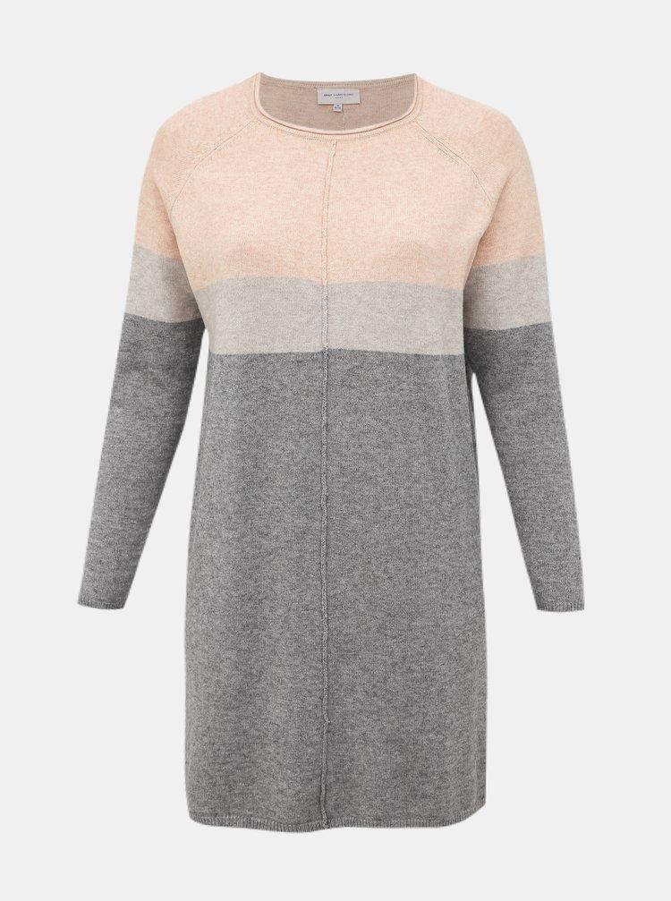 Šedé svetrové šaty ONLY CARMAKOMA Laura