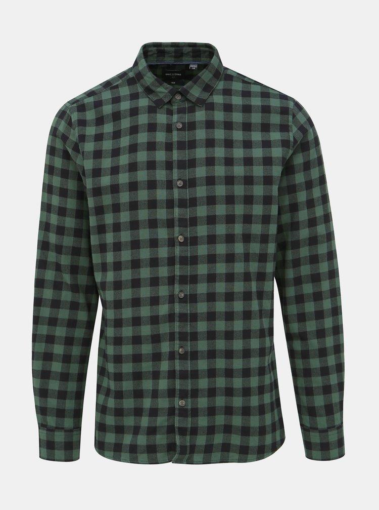Zelená kockovaná košeľa ONLY & SONS Gudmund