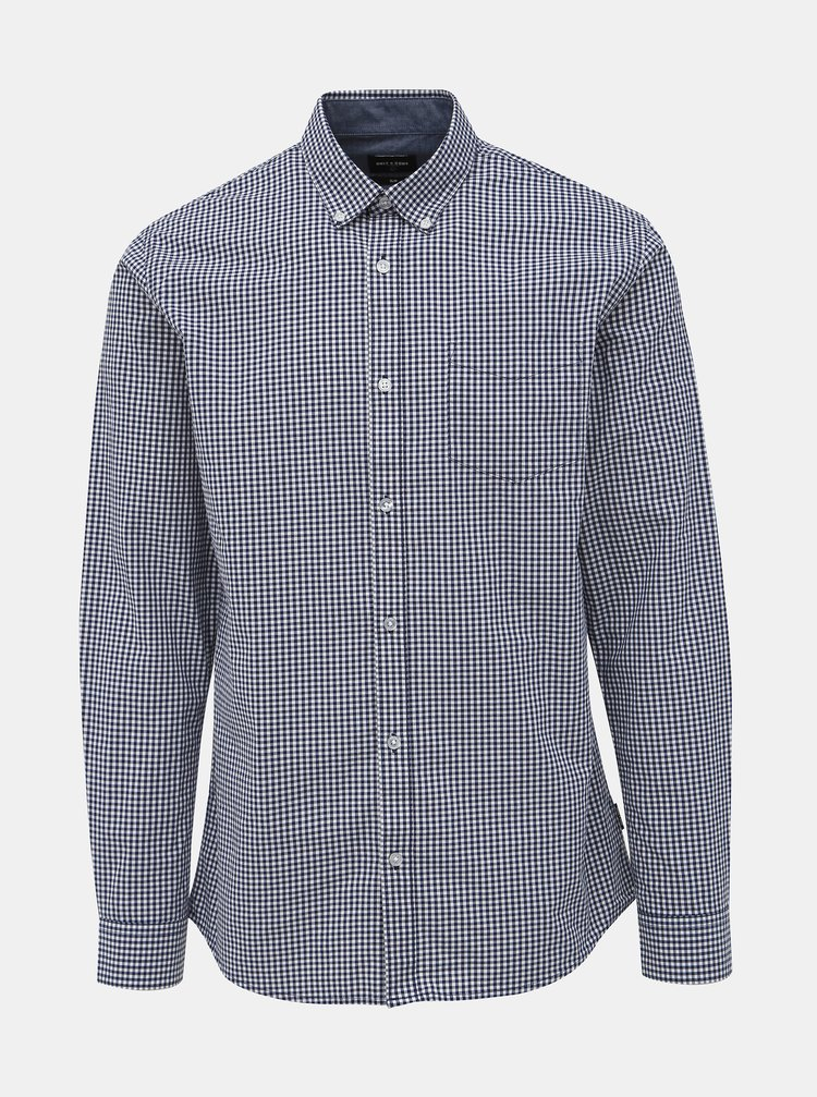 Bielo-modrá kockovaná slim fit košeľa ONLY & SONS Jade