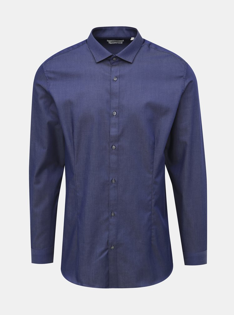 Camasi casual pentru barbati Jack & Jones - albastru inchis