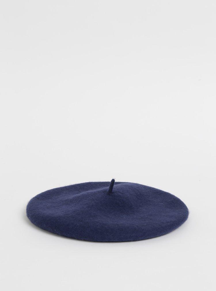 Tmavě modrý vlněný baret Tom Joule Wilsford