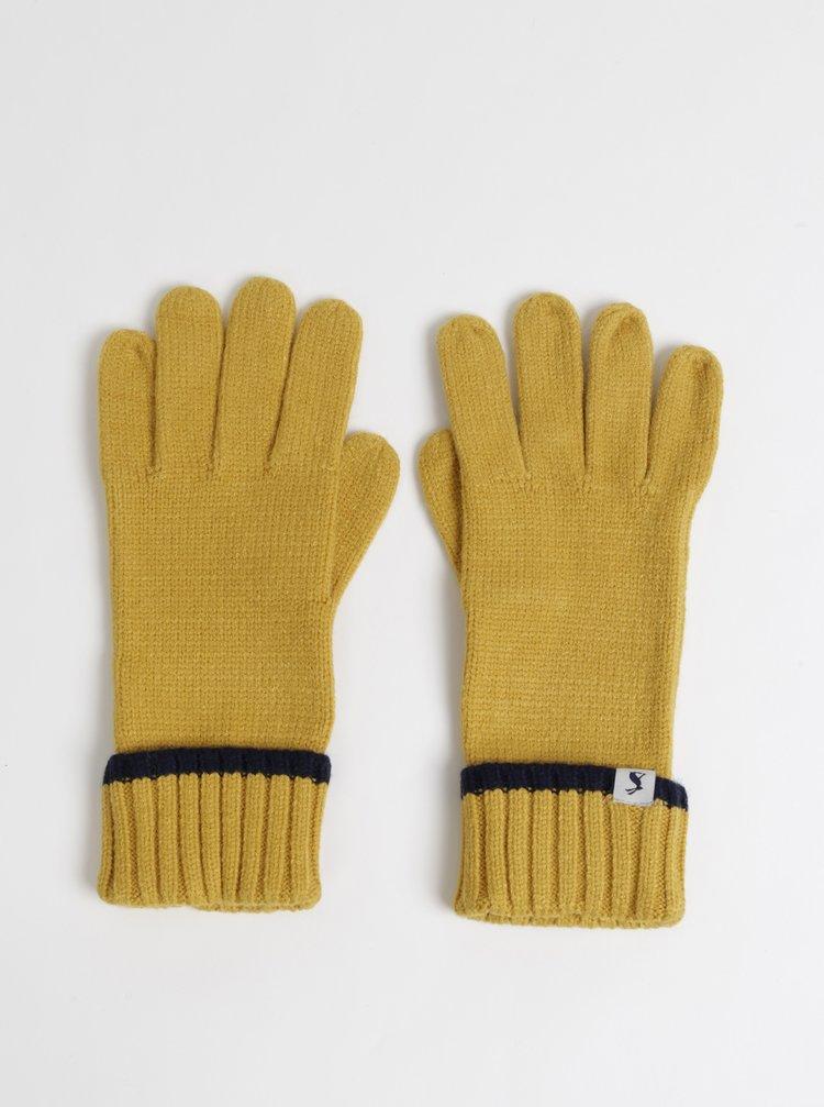 Hořčicové rukavice Tom Joule Snowday