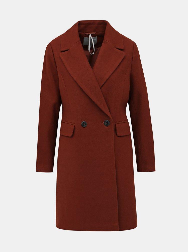 Hnědý kabát Dorothy Perkins Petite