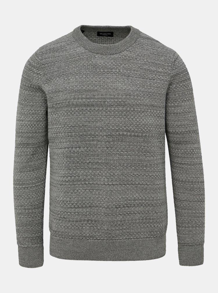 Šedý svetr Selected Homme Isak